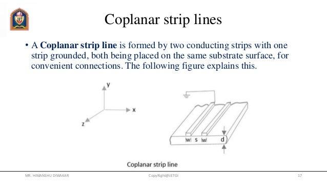 Coplanar strip line