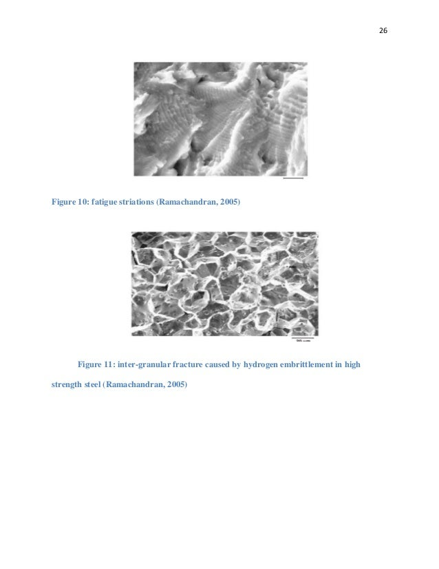 Report on Microstructure and fracture surface analysis