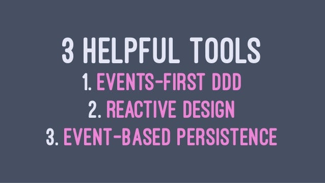 PRACTICE EVENTS-FIRST DOMAIN-DRIVEN DESIGN