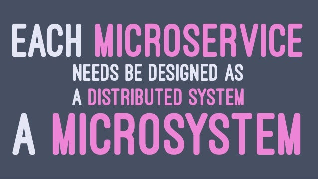 WE NEED TO MOVE FROM MICROLITHS TO MICROSYSTEMS