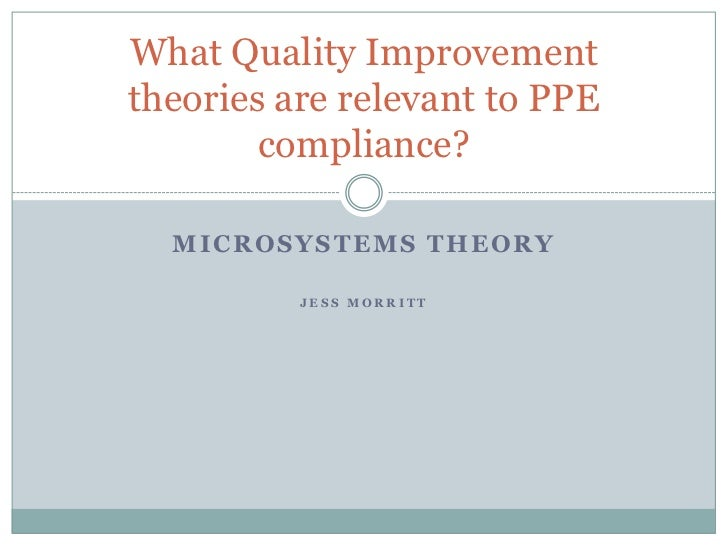 What Quality Improvementtheories are relevant to PPE        compliance?  MICROSYSTEMS THEORY          JESS MORRITT