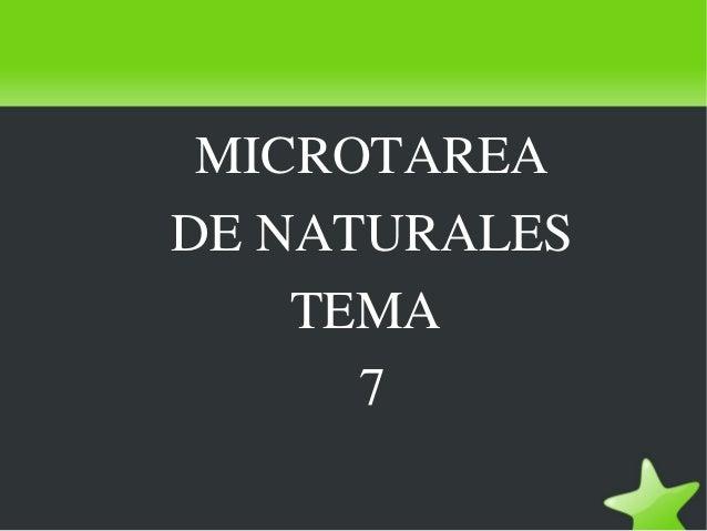 MICROTAREA DENATURALES TEMA 7