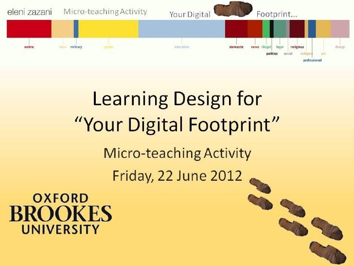 "Microteaching ""Your Digital Footprint"""