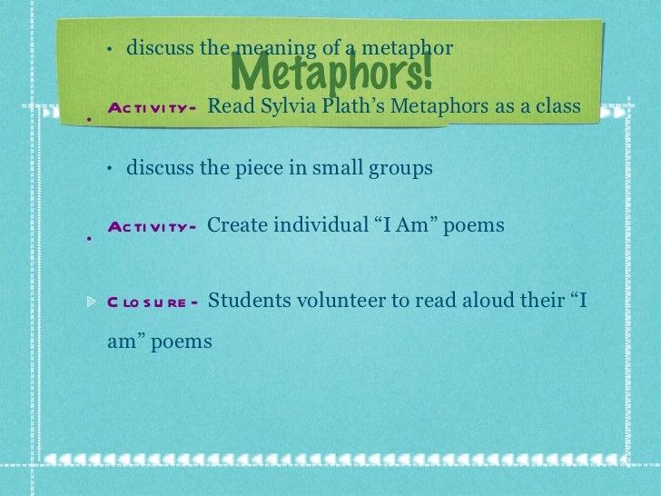 "Metaphors! <ul><li>Agenda  November 8, 2011: </li></ul><ul><ul><li>Introduction-   Watch ""Metaphor"" Video </li></ul></ul><..."