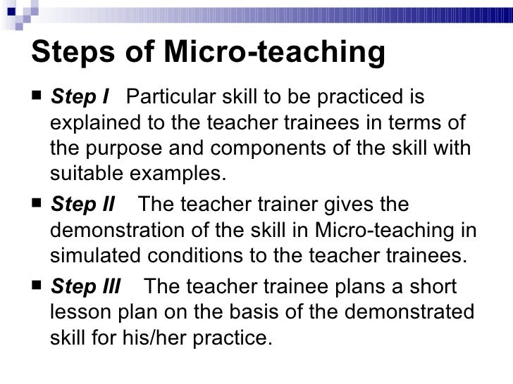 micro teach Micro-ethnography this 4 page paper provides an overview of micro-ethnography micro-ethnography is the study of a smaller experience or a slice of everyday reality.