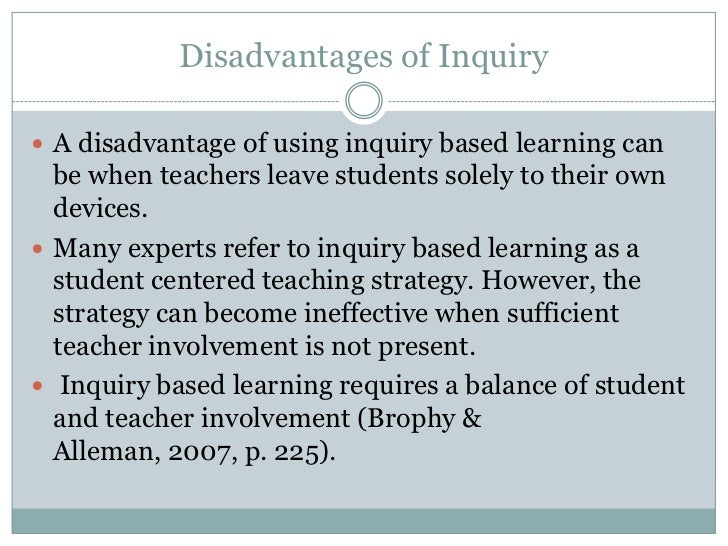 benefits of inquiry based learning