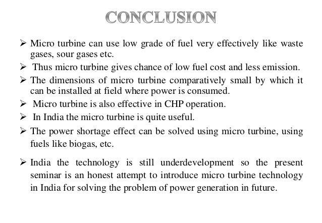 Micro turbine ppt