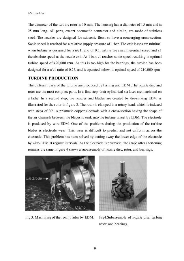 Microturbine The diameter of the turbine rotor is 10 mm. The housing has a diameter of 15 mm and is 25 mm long. All parts,...