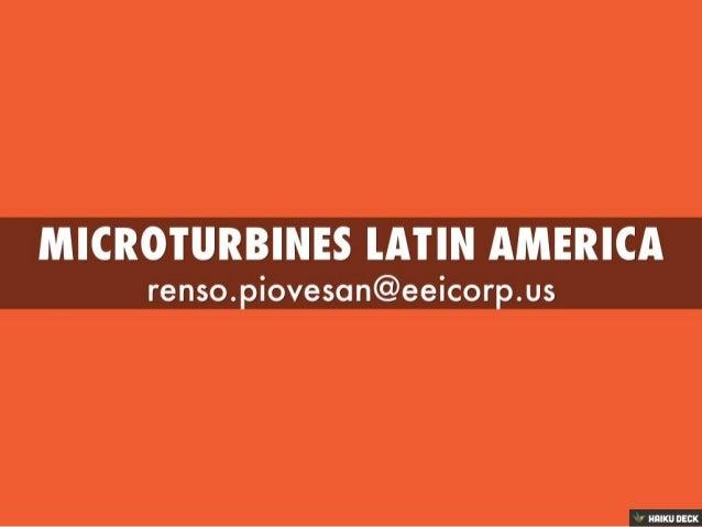 microturbines latin america