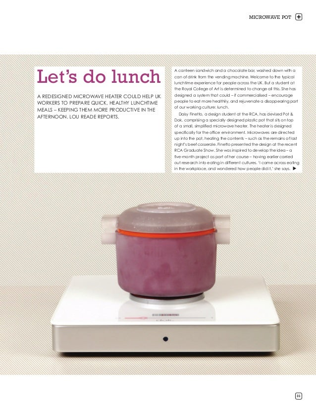 MICROWAVE POTLet's do lunch                                              A canteen sandwich and a chocolate bar, washed do...