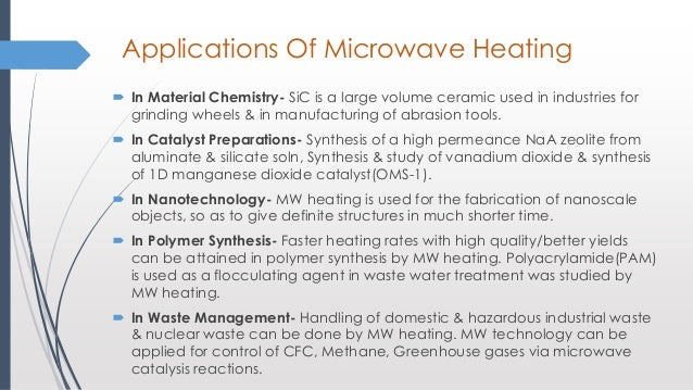 An Approach To Green Chemistry Via Microwave Radiation