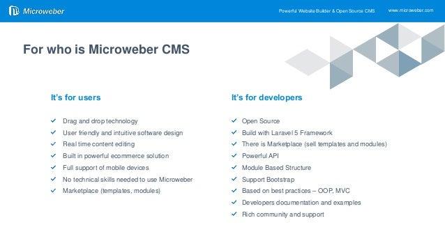 Microweber CMS Presentation - 2019
