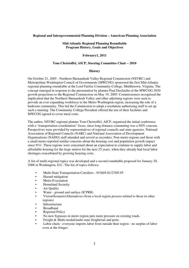 Regional and Intergovernmental Planning Division – American Planning Association                         Mid-Atlantic Regi...