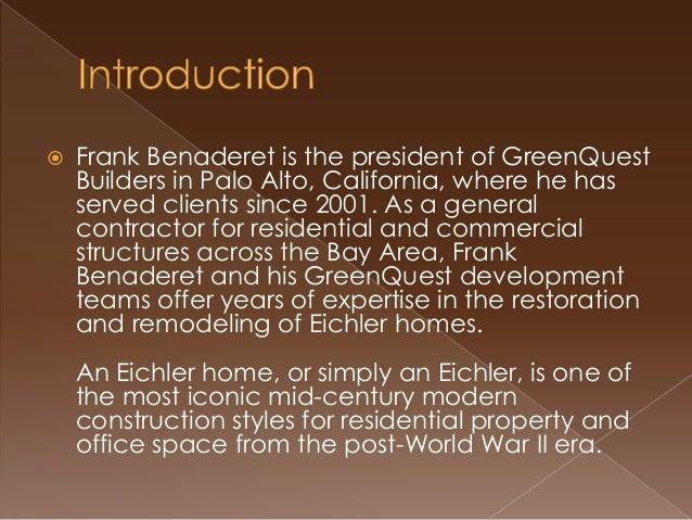 Mid-Century Eichler Homes In Demand in California