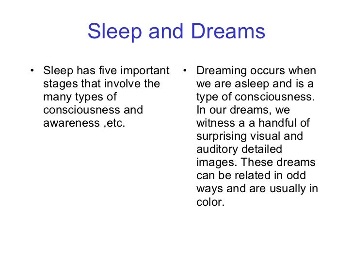 consciousness sleep The mandukya upanishad - a detailed analysis of the states of waking, dream, sleep and self-transcendence by swami krishnananda.