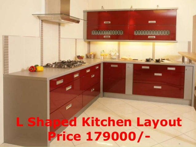 L Shaped Kitchen Layout Price 179000/  ...