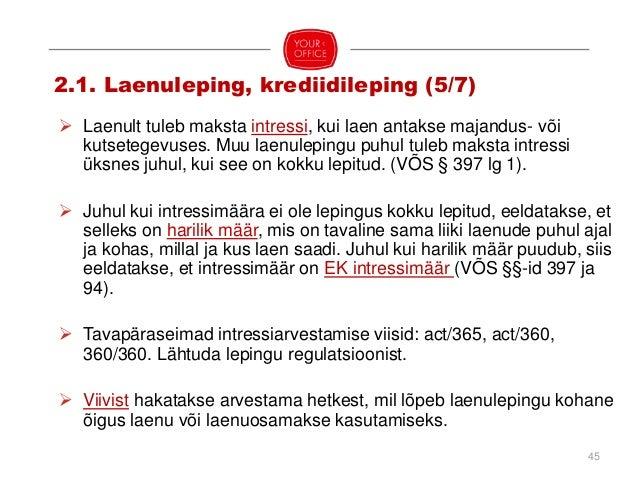 Laenukeeld (ÄS §§-id 159, 281) Osanikule / aktsionärile Emaettevõtja osanikule / aktsionärile Oma osa /aktsiate omandamise...