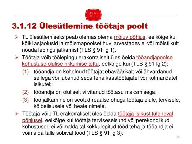  TL ülesütlemiseks tuleb teisele poolele esitada kirjalikku taasesitamist võimaldavas vormis ülesütlemisavaldus (TLS § 95...
