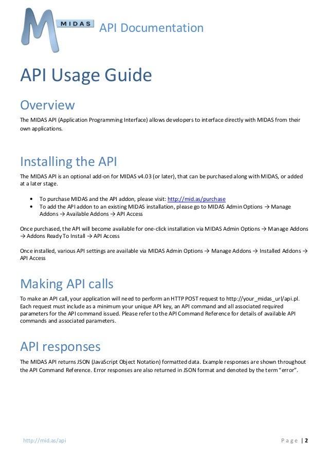 MIDAS Room & Resource Scheduling Software - API Documentation v1.02 Slide 3