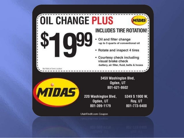 Jiffy Lube Oil Change >> Midas oil change coupon