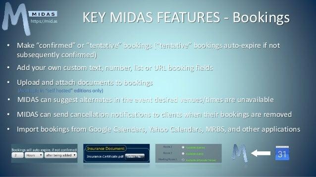 Midas Room Booking