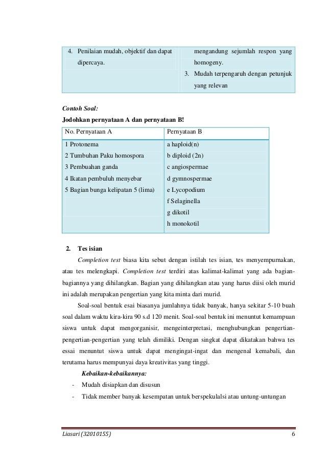 Mid Assessment Pembelajaran Biologi