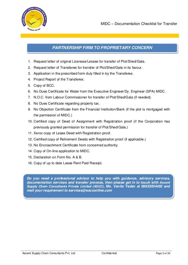 Midc transfer documents checklist another proprietary concern 3 midc documentation checklist for transfer thecheapjerseys Images