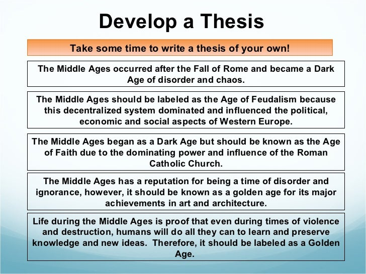middle ages dbq  15 develop a thesis the middle ages