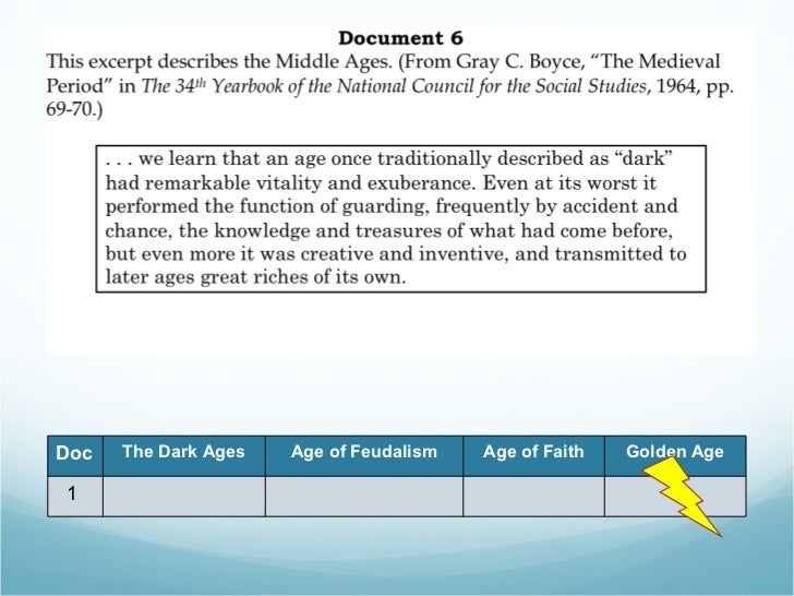 middle ages dbq doc the dark ages age of feudalism age of faith golden age 1