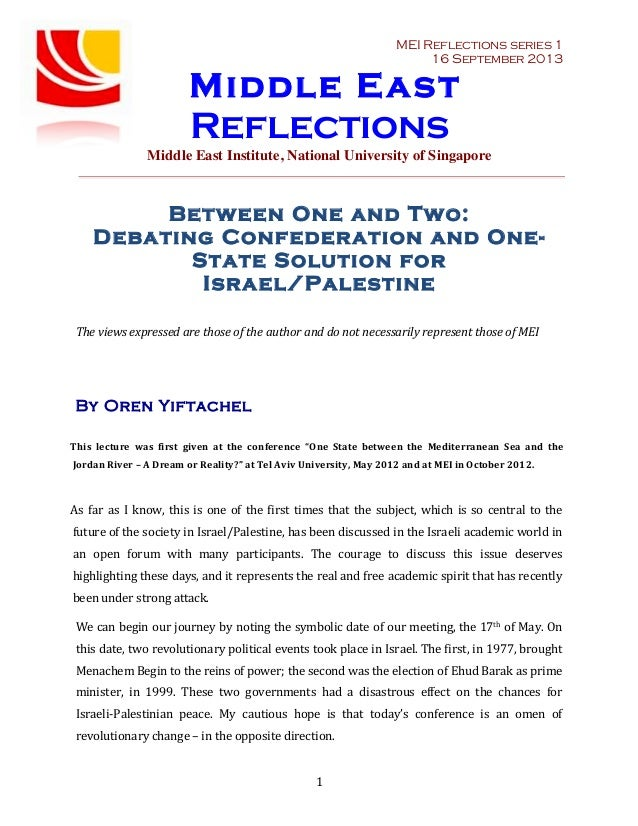MEI Reflections series	   1 16 September 2013  Middle East  Reflections  Middle East Institute, National University of Sin...