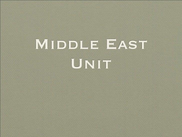 Middle East    Unit