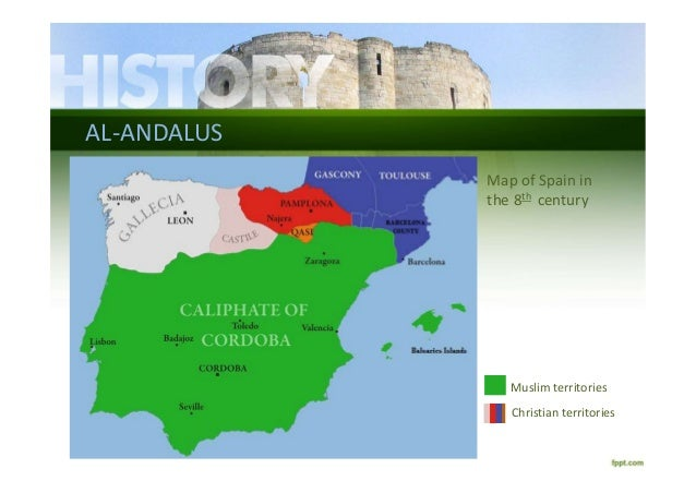 Map Of Spain 8th Century.Middle Ages