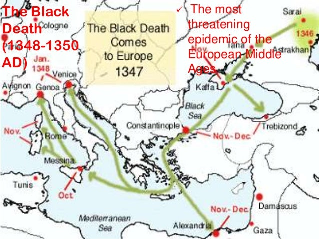 middle ages and major changes The plague begins life in the city was soon to change drastically during the late middle ages and early renaissance (1350-1450) the bubonic plague, also called the black death, devastated one half of the population of europe.