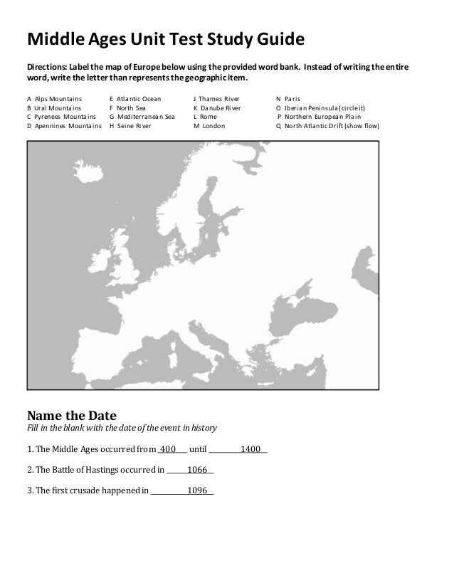 List of European Countries | Social Studies PDF Study Guide