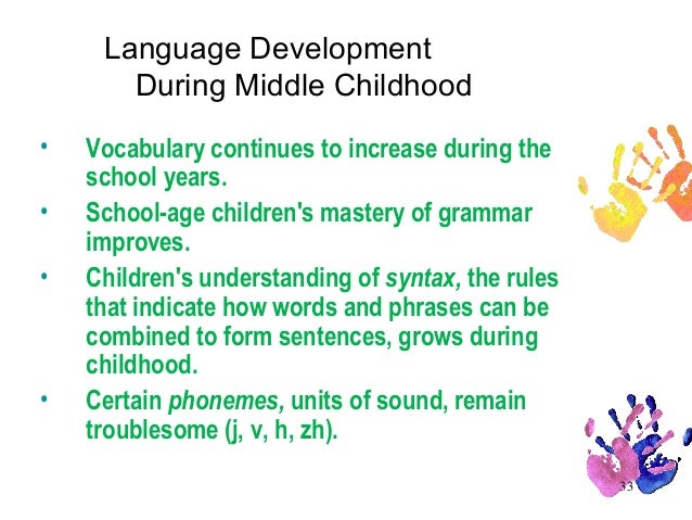 language development in middle adulthood Predictable sequence, the rate of language development among children varies substantially primarily due to the complex interaction between genetic monolingual development in middle-class samples this is a serious gap because most for academic failure and mental-health problems well into young adulthood.