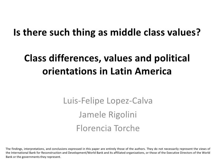 Is there such thing as middle class values?             Class differences, values and political                 orientatio...