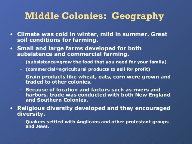 Middle colonies for Soil in sentence