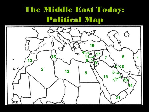 Middle East Physical Features Geography PowerPoint