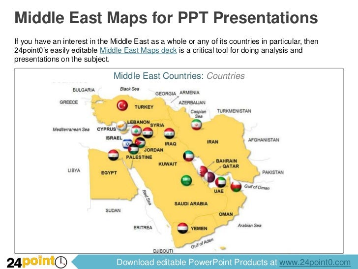 Middle Eastern Maps PowerPoint
