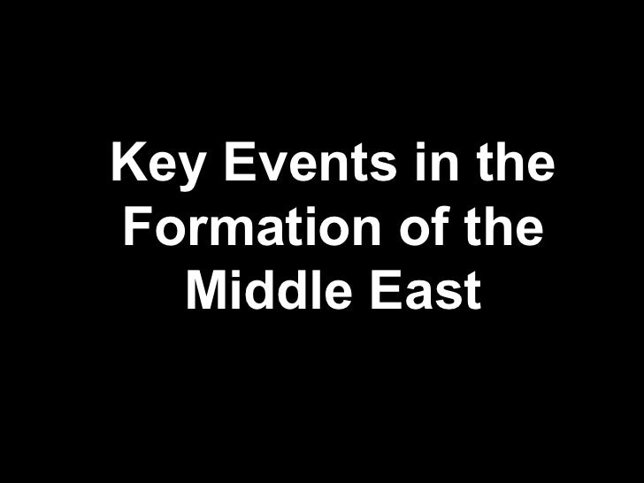 Key Events in the Formation of the Middle East