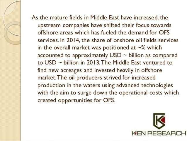 As the mature fields in Middle East have increased, the upstream companies have shifted their focus towards offshore areas...