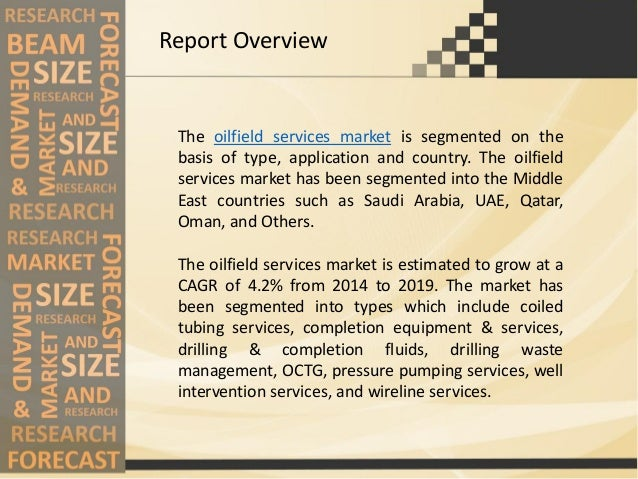 Middle east oilfield services market - Analysis and