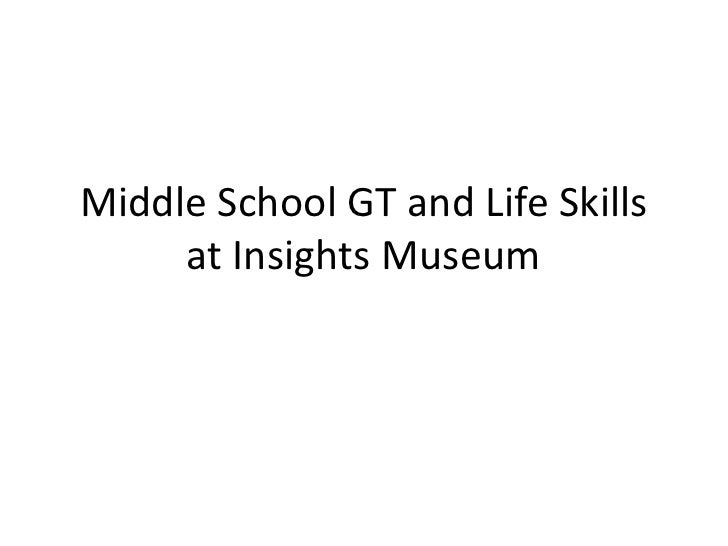 Middle School GT and Life Skills at Insights Museum<br />