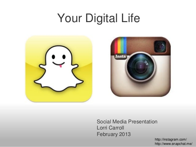 Your Digital Life        Social Media Presentation        Lorri Carroll        February 2013                              ...