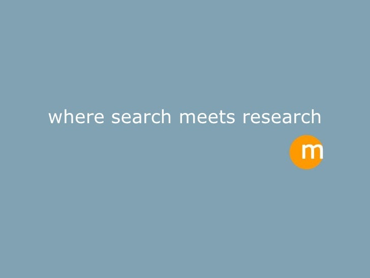 where search meets research
