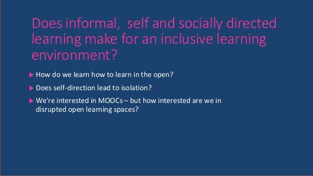 Inclusive Student Centered Learning Environment