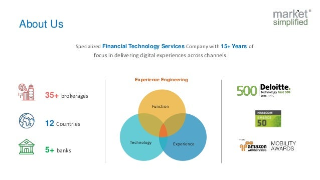 Function ExperienceTechnology Experience Engineering About Us 12 Countries 35+ brokerages 5+ banks Specialized Financial T...