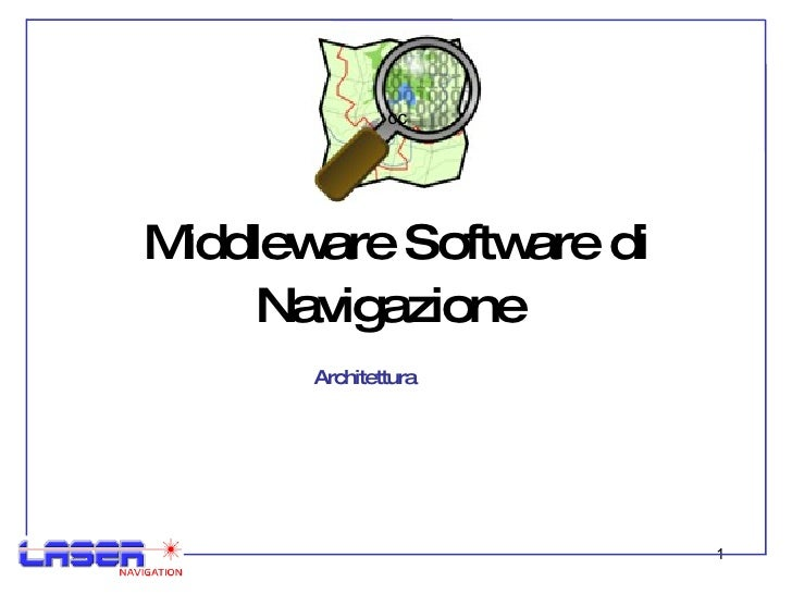 Middleware Software di Navigazione  Architettura  cc