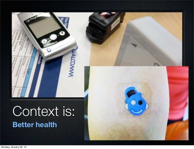 Context is:         Better healthMonday, January 28, 13