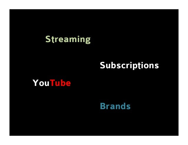Streaming Subscriptions YouTube Brands